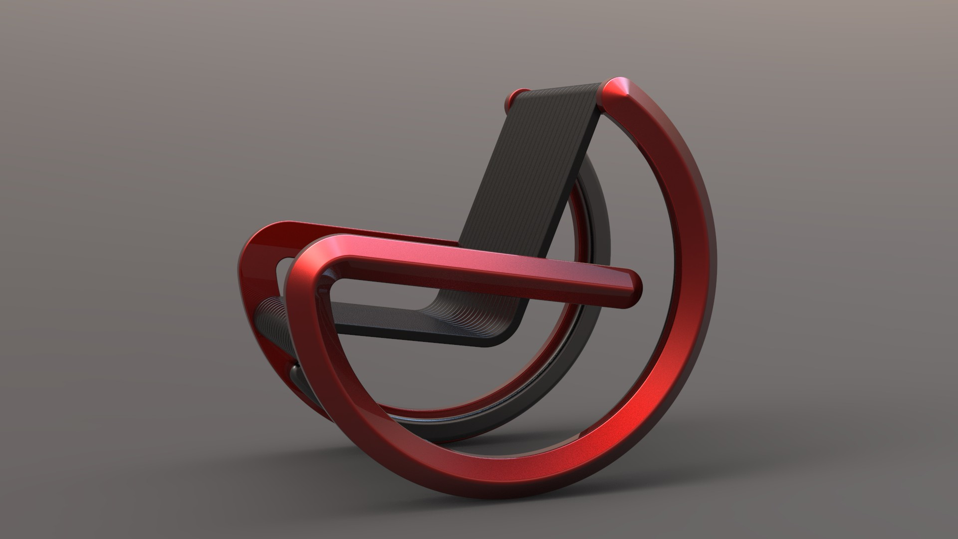 Equilibrium chair red