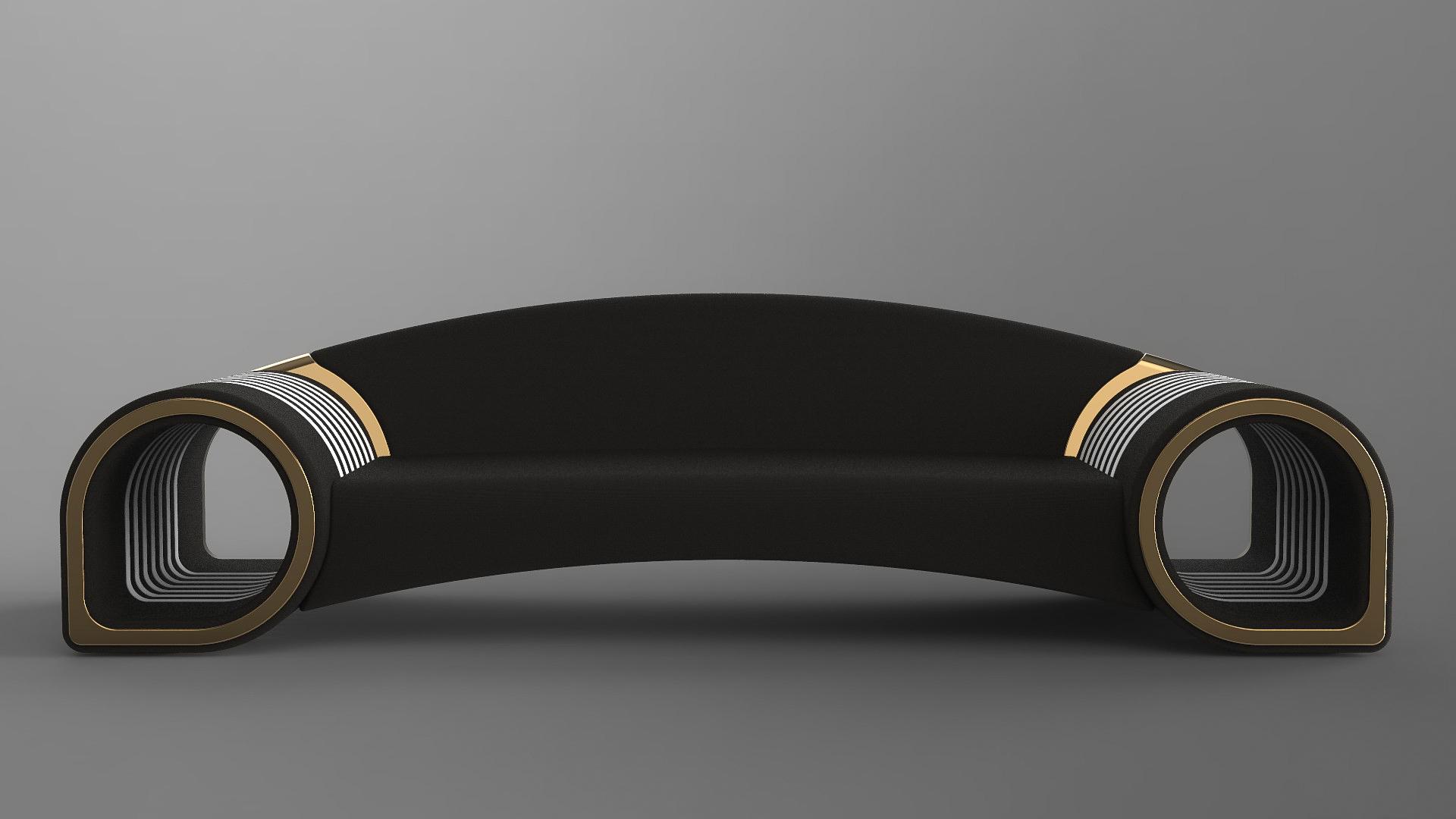Glamora sofa black
