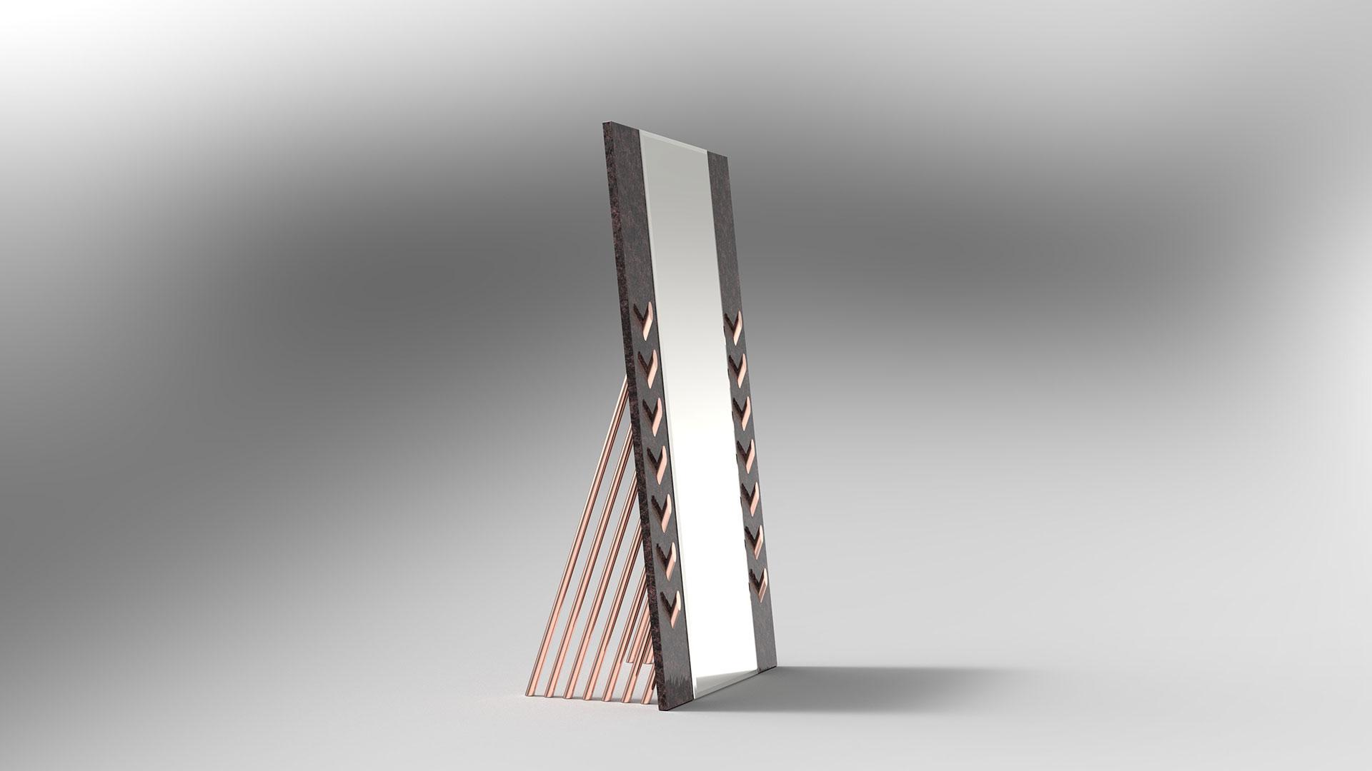 Fashion floor mirror by Adam Edward Design