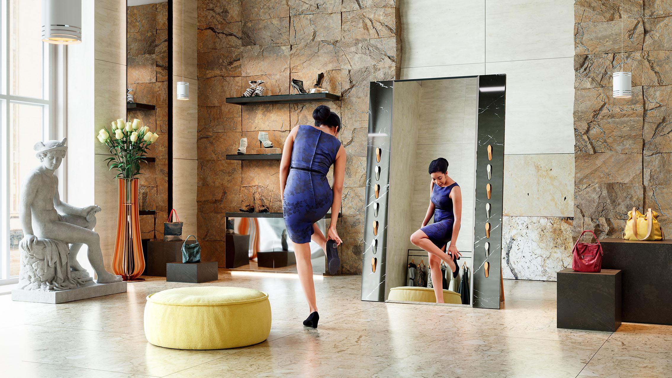 Fashion mirror by Adam Edward Design