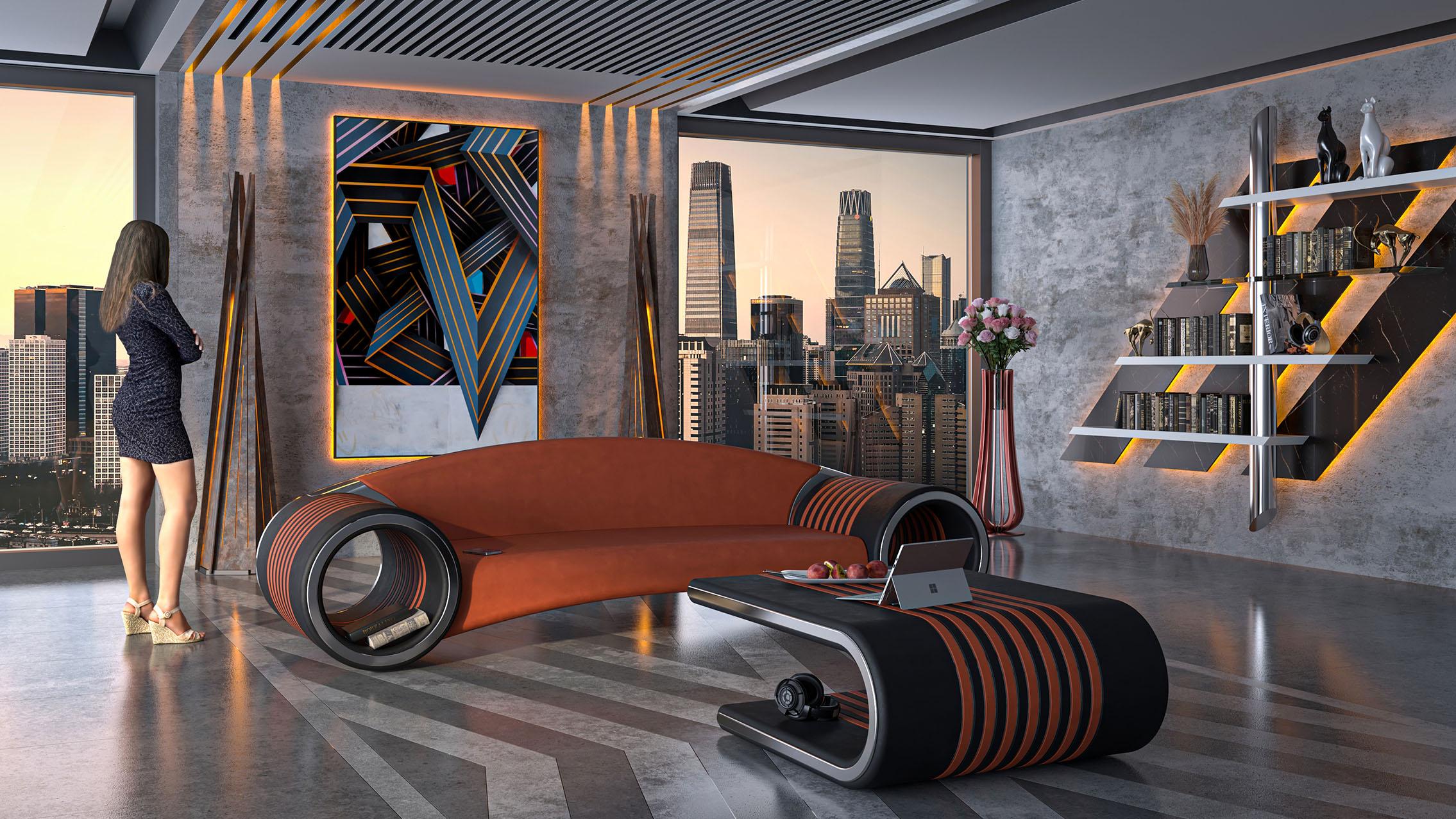 Glamora sofa by Adam Edward Design