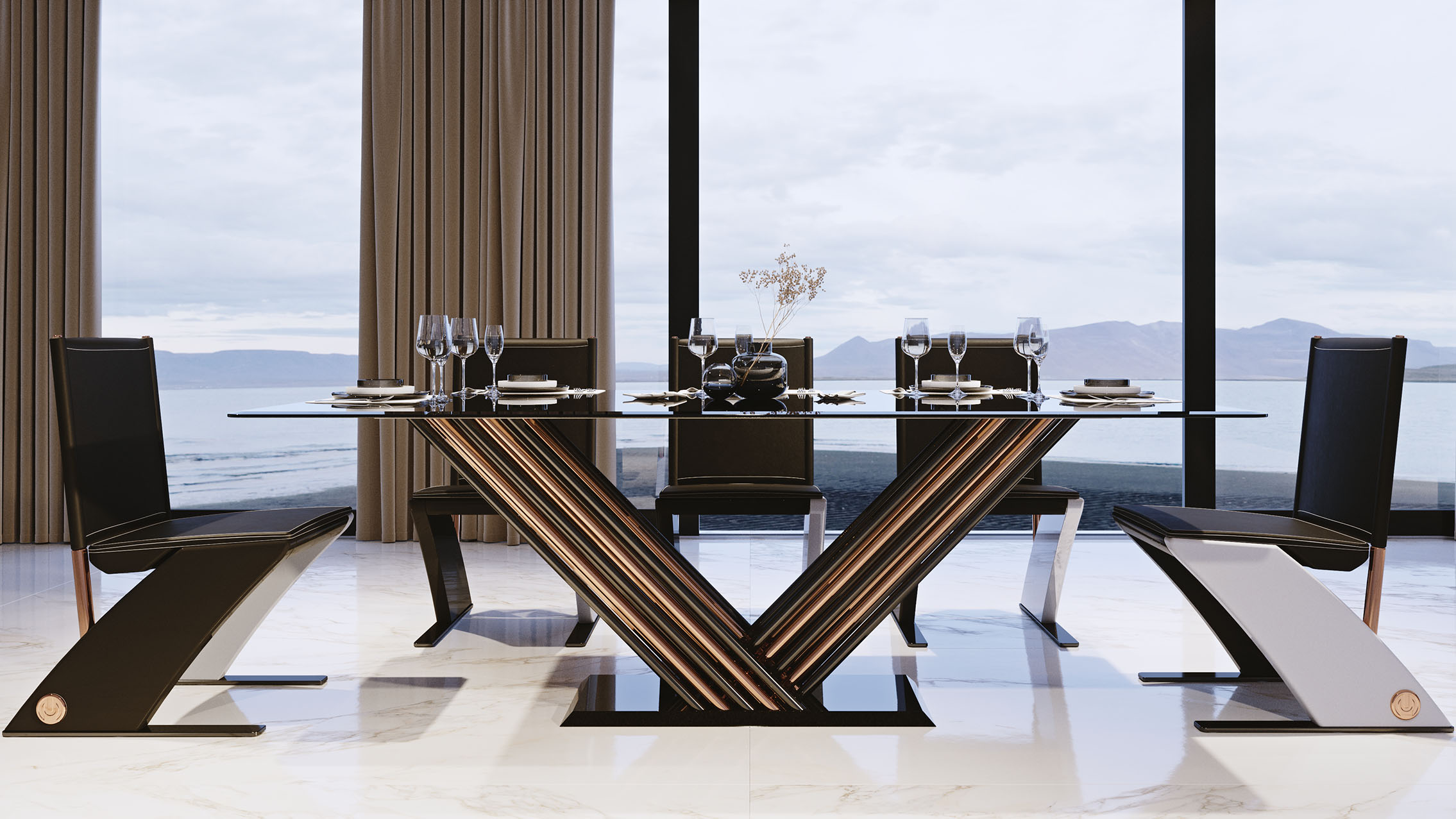 Vision dining table by Adam Edward Design
