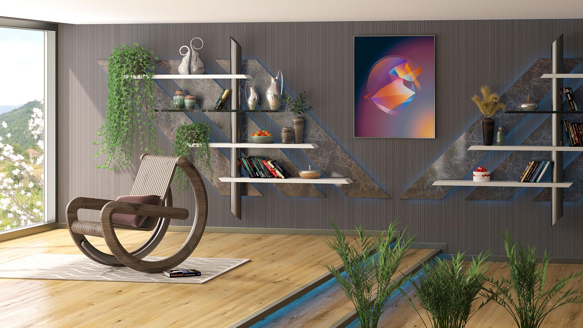 Equilibrium rocking chair by Adam Edward Design